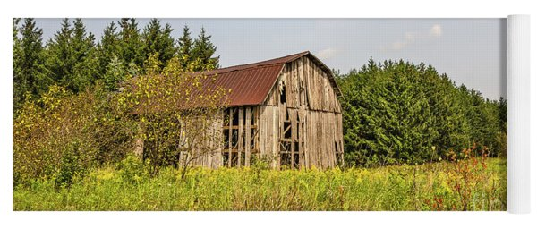 Weathered Barn Basking In The Summer Sun Yoga Mat