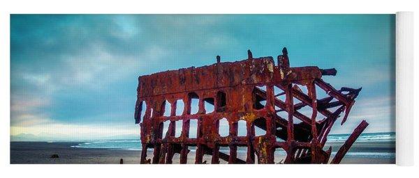 Weathered Rusting Shipwreck Yoga Mat