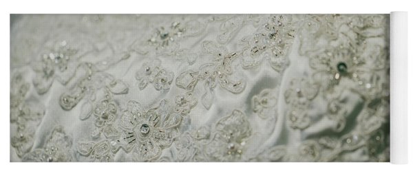 Wedding Dress Floral Beadwork Yoga Mat