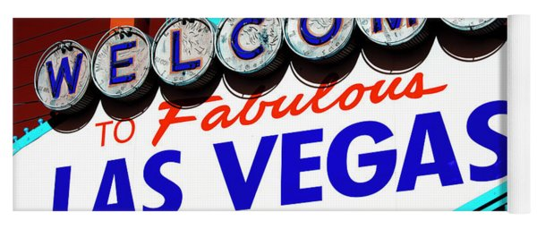 Welcome To Las Vegas Pop Art Yoga Mat