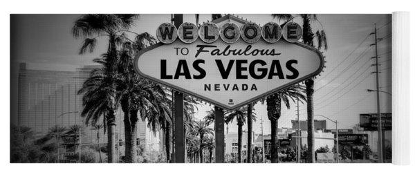 Welcome To Las Vegas Series Holga Black And White Yoga Mat