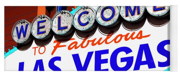 Welcome To Las Vegas Sign Pop Art Yoga Mat
