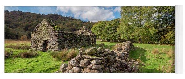 Welsh Cottage Ruin Yoga Mat