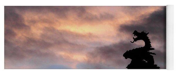 Welsh Dragon At Sunset 1 Yoga Mat