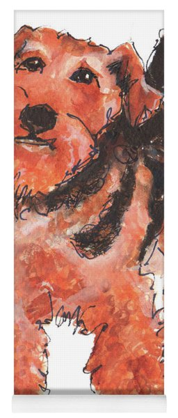 Welsh Terrier Or Schnauzer Watercolor Painting By Kmcelwaine Yoga Mat