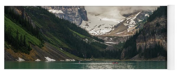 West End Of Lake Louise Yoga Mat