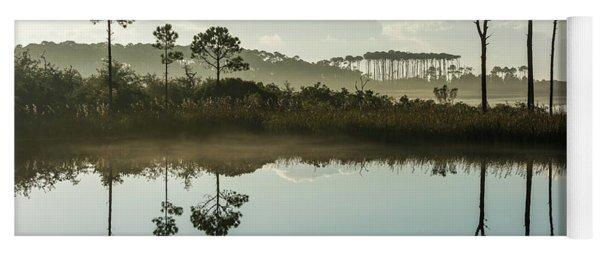 Western Lake Misty Morning Yoga Mat