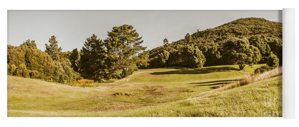 Western Tasmania Grassland Panorama Yoga Mat