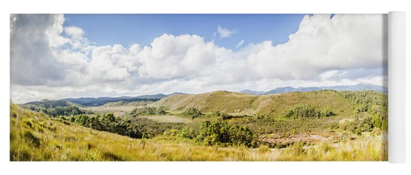 Western Tasmania Panorama Yoga Mat