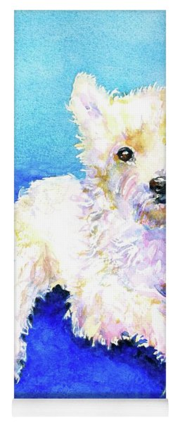 Westie Painting In Watercolor  Yoga Mat