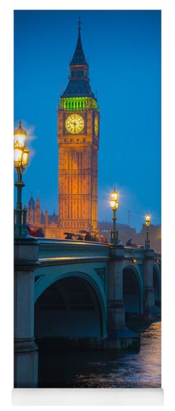 Westminster Bridge At Night Yoga Mat