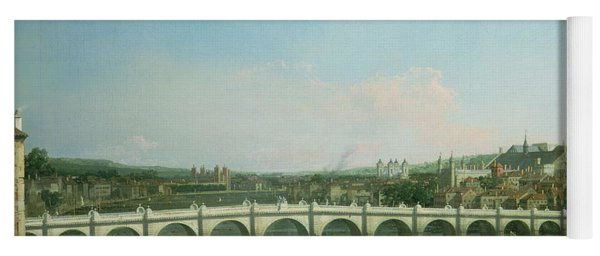 Westminster Bridge From The North With Lambeth Palace In Distance Yoga Mat