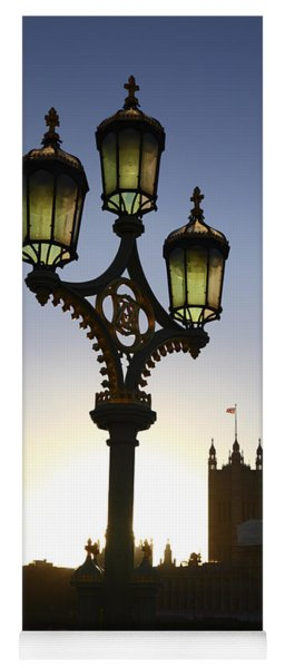 Westminter Street Lamp London Yoga Mat