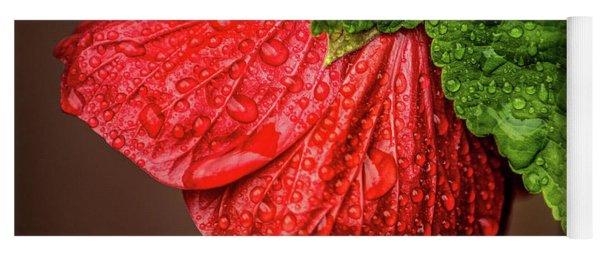 Wet Flower-abutilon Yoga Mat