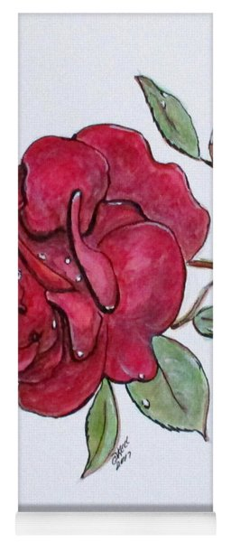 Wet Rose Yoga Mat