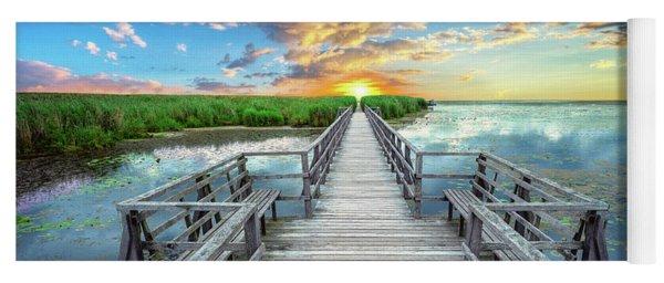 Wetland Marsh Sunrise Treasure Coast Florida Boardwalk A1 Yoga Mat