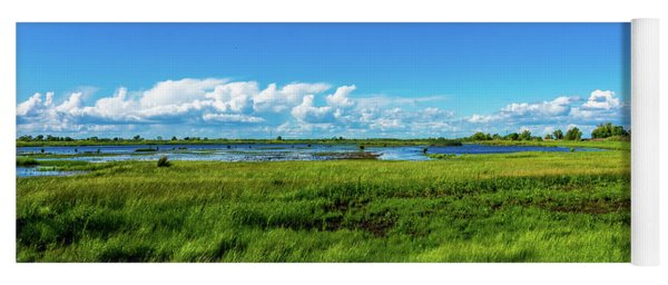 Wetlands On A Windy Spring Day Yoga Mat