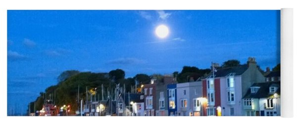 Weymouth Harbour, Full Moon Yoga Mat