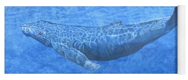 Whale In Surface Light Yoga Mat