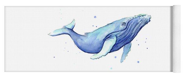 Whale Watercolor Humpback Yoga Mat