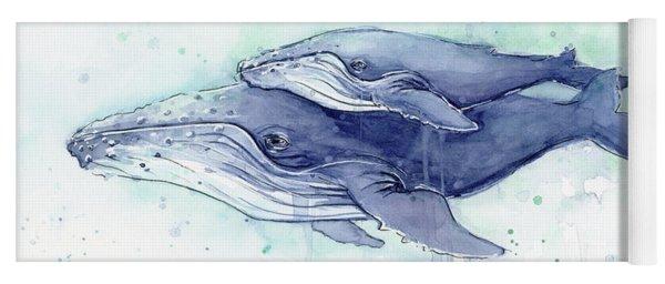 Whales Humpback Watercolor Mom And Baby Yoga Mat