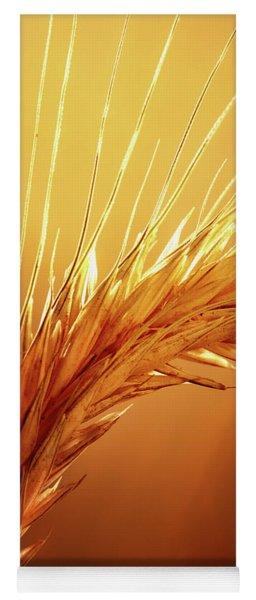 Wheat Close-up Yoga Mat