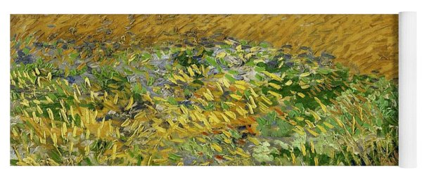 Yoga Mat featuring the painting Wheat Field With Alpilles Foothills In The Background At Wheat Fields Van Gogh Series, By Vincent  by Artistic Panda