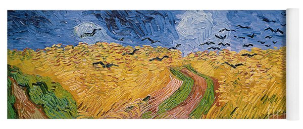 Wheatfield With Crows Yoga Mat