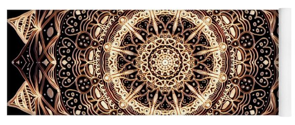 Wheel Of Life Mandala Yoga Mat