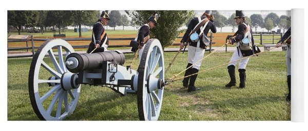 Wheeling The Cannon At Fort Mchenry In Baltimore Maryland Yoga Mat