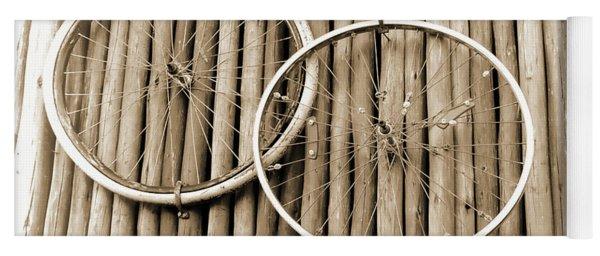 Wheels On Bamboo Yoga Mat