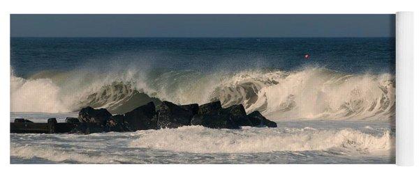 When The Ocean Speaks - Jersey Shore Yoga Mat
