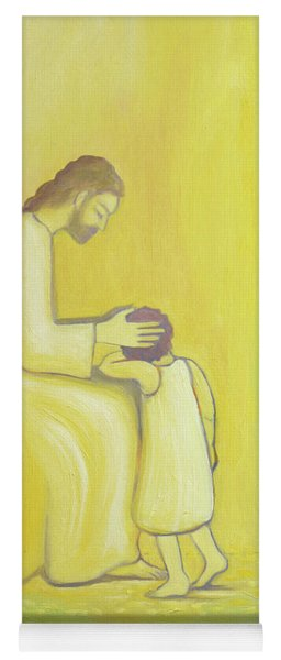 When We Repent Of Our Sins Jesus Christ Looks On Us With Tenderness Yoga Mat