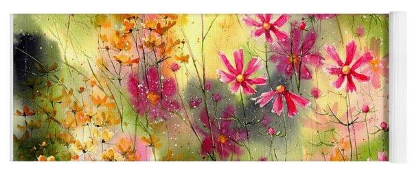 Where The Pink Flowers Grow Yoga Mat