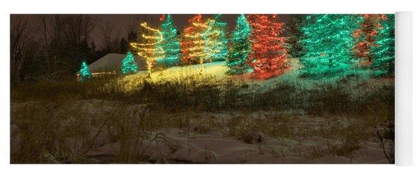 Whimsical Christmas Lights Yoga Mat