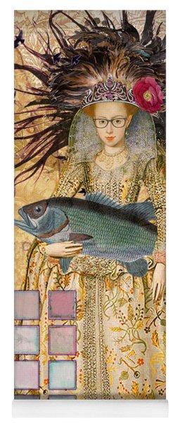 Whimsical Pisces Woman Renaissance Fishing Gothic Yoga Mat