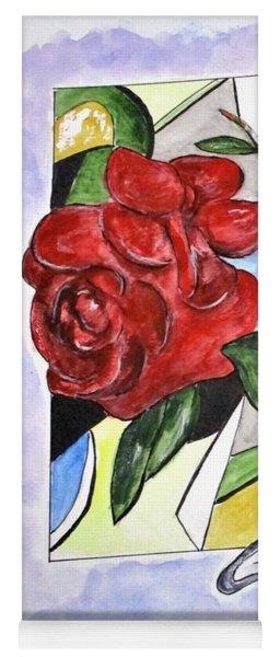 Whimsical Roses Yoga Mat