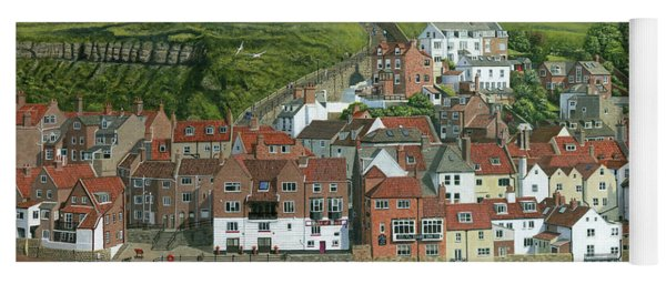 Whitby Harbor North Yorkshire  Yoga Mat
