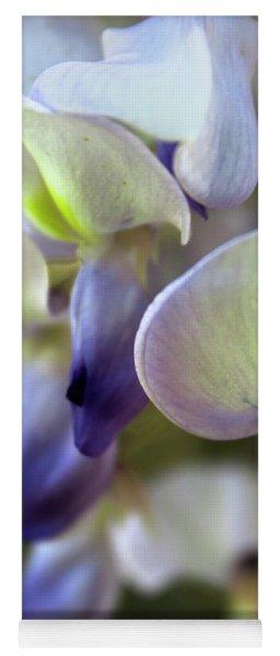 Wisteria White And Purple Yoga Mat