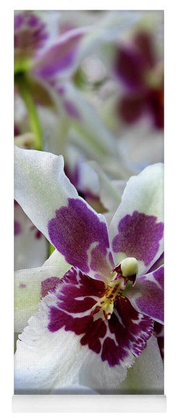 Purple And White Orchid Yoga Mat