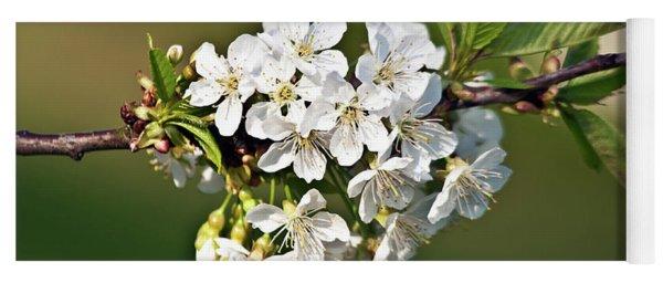 White Apple Blossoms Yoga Mat
