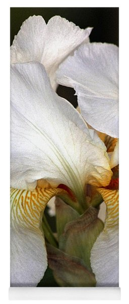White Bearded Iris Yoga Mat