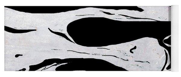 White Black Modern Art  Yoga Mat