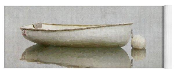 White Boat Yoga Mat
