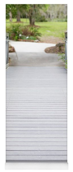 Yoga Mat featuring the photograph White Bridge by Raphael Lopez