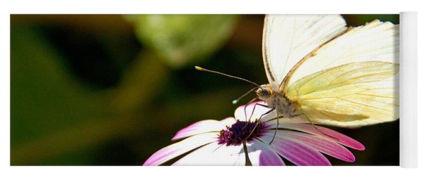 White Butterfly Yoga Mat