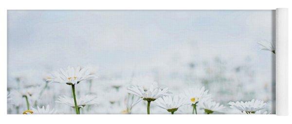 White Daisies In Summer Sunshine 2 Yoga Mat