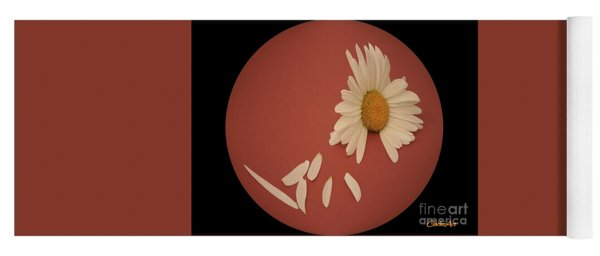 Encapsulated Daisy With Dropping Petals Yoga Mat