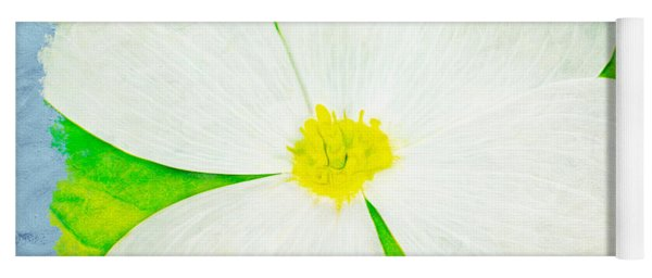 White Dogwood Bloom Yoga Mat