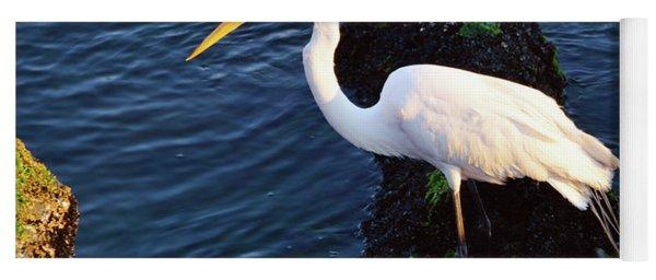 White Egret At Sunrise - Barnegat Bay Nj  Yoga Mat